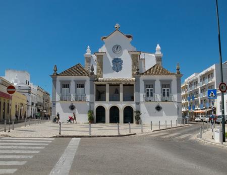 senhora: Nossa Senhora do Rosario in The Chapel of Senhor dos Aflitos. Olhao, Algarve. Portugal. Editorial