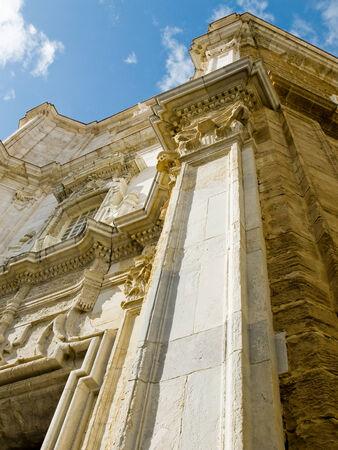 cadiz: Cadiz Cathedral called La Catedral Vieja de Cadiz or Iglesia de Santa Cruz. Cadiz. Andalusia, Spain Stock Photo
