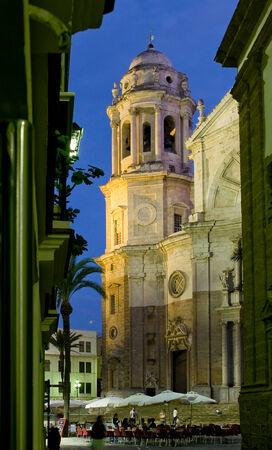 cadiz: Cadiz Cathedral called La Catedral Vieja de Cadiz or Iglesia de Santa Cruz in Plaza de la Catedral. Cadiz. Andalusia, Spain Stock Photo