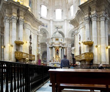 cadiz: Cadiz Cathedral called La Catedral Vieja de Cadiz or Iglesia de Santa Cruz. Cadiz. Andalusia, Spain Editorial