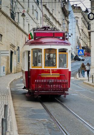 bairro: Lisbon tram in Bairro Alto district, Lisbon. Portugal. Editorial