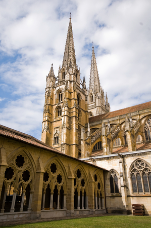 belfry: Belfry of Sainte Marie de Bayonne Cathedral. Bayonne Aquitaine. France