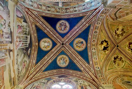 gothica: Ceiling of Baroncelli Chapel in right transept of Basilica di Santa Croce. Florence Italy Editorial