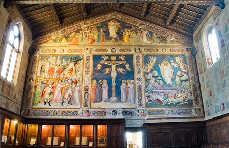 gothica: The sacristy of the Basilica di Santa Croce. Florence Italy