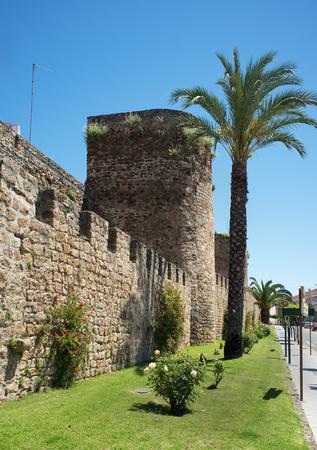 extremadura: City wall of Caceres Plasencia Extremadura. Spain