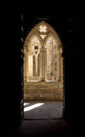 Cloister of Cathedral of Santa Maria Caceres of Plasencia Extremadura. Spain
