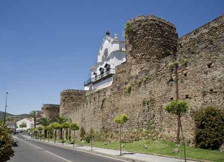 extremadura: City wall of Plasencia Caceres Extremadura. Spain