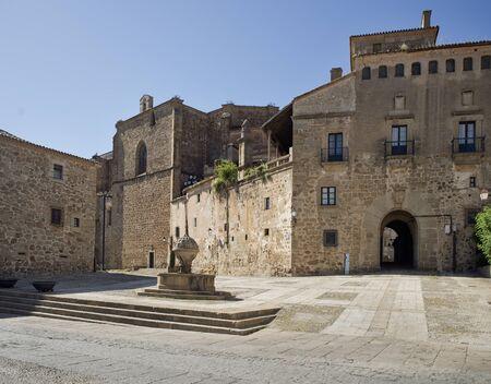 extremadura: St Nicolas square in Plasencia Caceres Extremadura. Spain