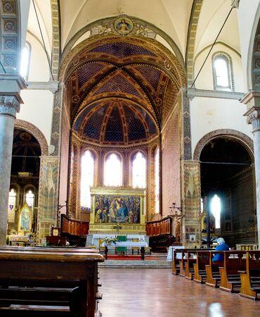 dei: Main nave of Basilica dei Servi. Siena Italy
