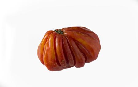 beefsteak: Beefsteak tomato isolated on white.