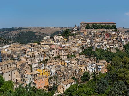 ragusa: Ragusa Ibla cityscape in Val di Noto. Sicily, Italy.