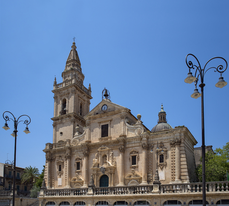 ragusa: Cathedral of San Giovanni Battista in Ragusa, Val di Noto. Sicily, Italy.