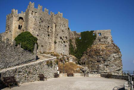 historical monument: Castello di Venere in Erice, province of Trapani. Sicily, Italy.