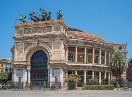 palermo italy: Politeama Garibaldi theater in Palermo, Sicily. Italy. Editorial