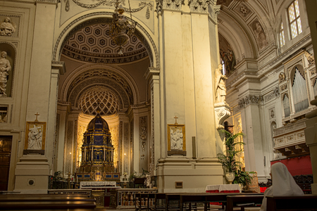 ambulatory: Chapel of Blessed Sacrament in Metropolitan Cathedral of the Assumption of Virgin Mary.Cathedral church of the Roman Catholic Archdiocese of Palermo. Palermo. Sicily, Italy. Editorial