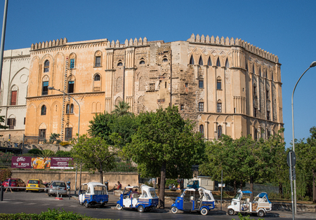reale: The Palazzo dei Normanni is a palace in Palermo, Italy. It was the seat of the Kings of Sicily During the dominationPalace of the Normans Norman or Royal Palace of Palermo. Sicily, Italy.