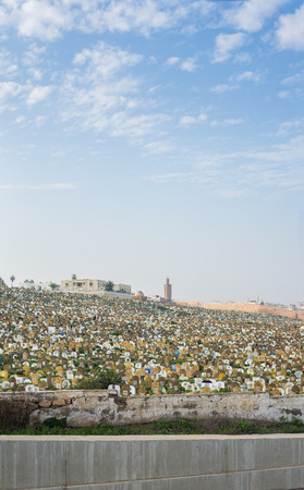 north africa: Muslim cemetery of Rabat. View from Kasbah of the Udayas. Rabat, Morocco. North Africa. Editorial