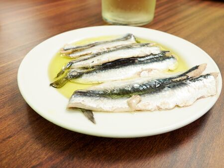cantabrian: Spanish Boquerones (anchovies marinated in olive oil).