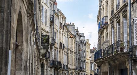 aquitaine: Typical street of Bordeaux, Aquitaine. France.