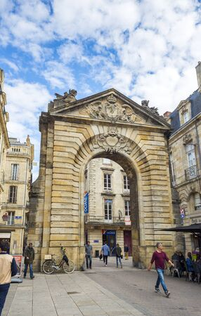 gironde: Porte Dijeaux. Dijeaux is a city gate in Gironde district of Bordeaux, the capital of Aquitaine. France. Editorial
