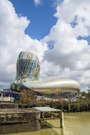 cite: Bordeaux, France - March 27, 2016. La cite du vin is the Wine museum of Bordeaux near to Garonne river. Bordeaux, Aquitaine. France. Editorial