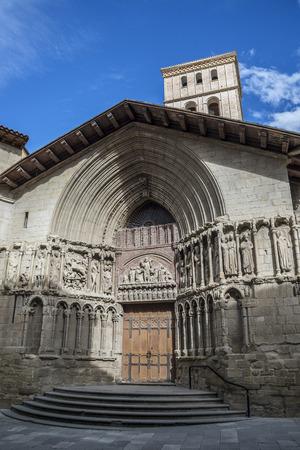 bartolome: Main facade of San Bartolome church in Logrono, La Rioja. Spain. Stock Photo