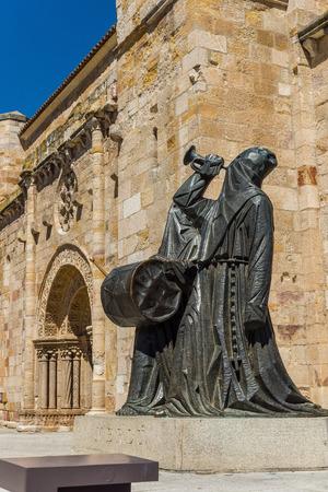 Merlu easter statue in Church of San Juan Bautista in mayor square of Zamora . Castilla y Leon, Spain.
