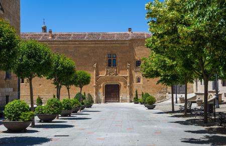 castille: Principal facade of Palacio de Montarco in Ciudad Rodrigo, Salamanca, Castilla y Leon. Spain.