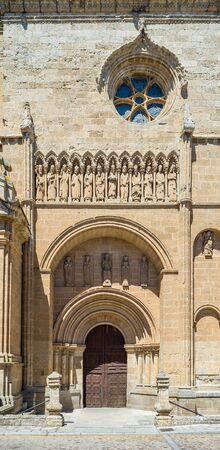 santa maria: South facade, known as Cadenas door, of Santa Maria Cathedral. Ciudad Rodrigo, Salamanca, Castilla y Leon. Spain. Stock Photo