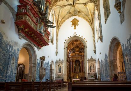 nave: Nave of Santa Cruz Monastery in Coimbra, Portugal.