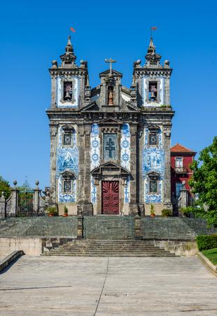 Igreja de Santo Ildefonso church in Porto, Portugal Editorial