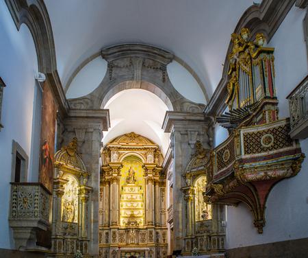 nave: Nave of the Igreja da Misericordia Church of Viseu, Portugal.