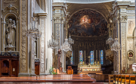 nave: Nave of San Giorgio cathedral of Ferrara in Emilia-Romagna. Italy. Editorial