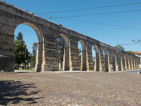 aquifer: Aqueduto de Sao Sebastiao aqueduct of Coimbra, Portugal.