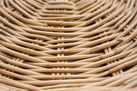 Weave pattern rattan background.Woven rattan by handmade Stock Photo