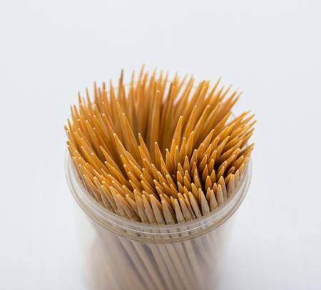 stirrer: Toothpick box on a white background.