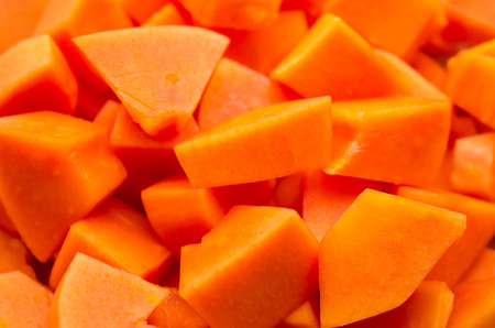 cutaneous: Background of papaya slices
