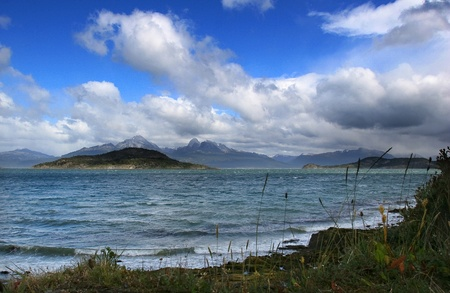 Coast of the most southern point of South America in Argentina,close to the place called Ushuaia.
