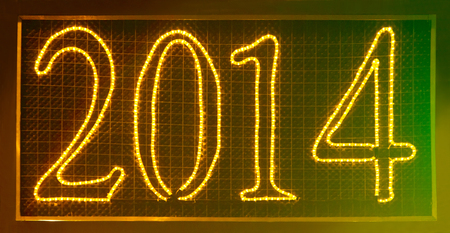lighted: Lighted sign of 2014 year