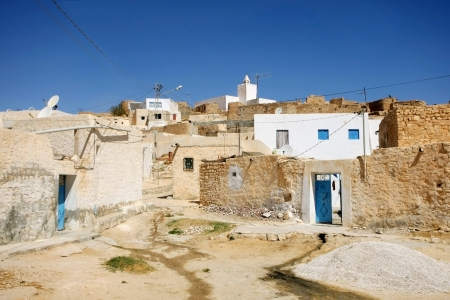 matmata: Village Tamezret in Tunisia Tamezret is a Tunisian Berber village located southeast of the country, about ten kilometers from Matmata and forty kilometers southwest of the capital of the governorate of Gabes which it depends