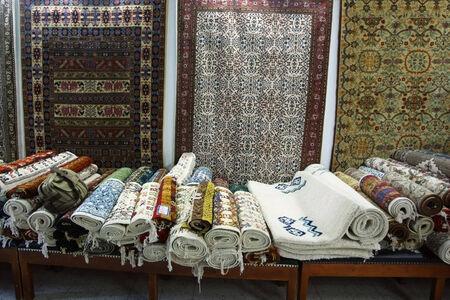 kairouan: A marketplace selling carpets  in Kairouan, Tunisia