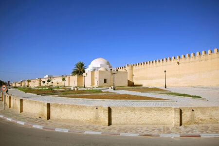 The Great Mosque of Kairouan, also known as the Mosque of Uqba, one of the most important mosques in Tunisia Stock Photo