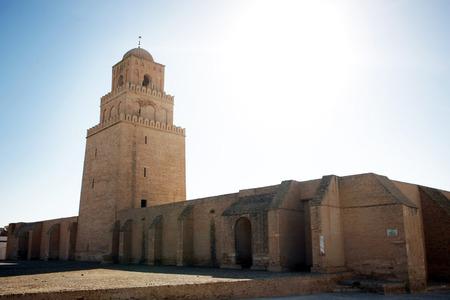 Il minareto della Grande Moschea di Kairouan, conosciuta anche come la Moschea di Uqba, una delle moschee pi� importanti in Tunisia