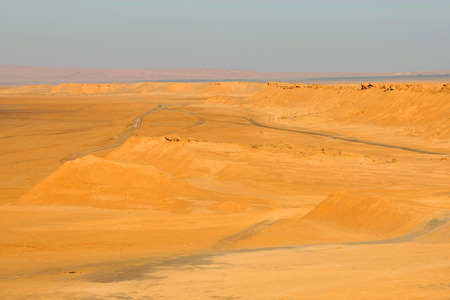 Sahara desert dune di sabbia vicino Ong Jemel a Tozeur, in Tunisia Archivio Fotografico