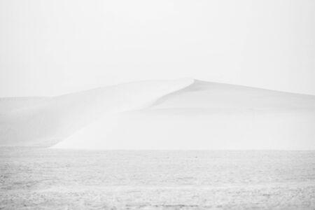 Sand dunes of Sahara desert near Ong Jemel in Tozeur,Tunisia