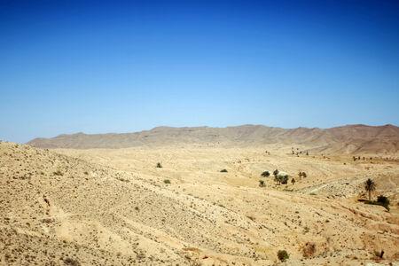 matmata: Rocky Sahara desert in Matmata, Tunisia