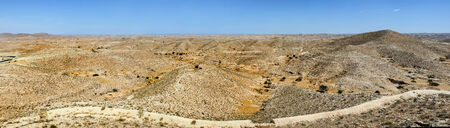 matmata: A panoramic view of rocky Sahara desert in Matmata, Tunisia