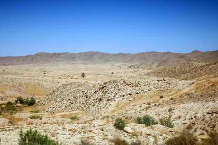 matmata: Rocky mountain of Sahara desert in Matmata, Tunisia