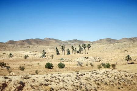 Rocky Sahara desert in Matmata, Tunisia  photo