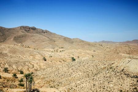 matmata: Rocky mountain of Sahara desert in Matmata, Tunisia